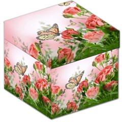 Flora Butterfly Roses Storage Stool 12