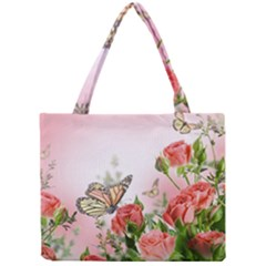 Flora Butterfly Roses Mini Tote Bag
