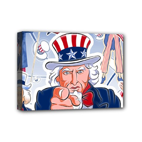 Independence Day United States Of America Mini Canvas 7  x 5