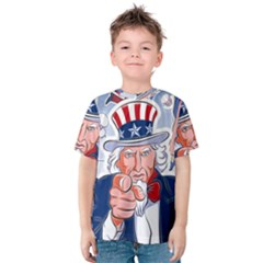 Independence Day United States Of America Kids  Cotton Tee
