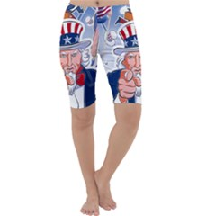 Independence Day United States Of America Cropped Leggings