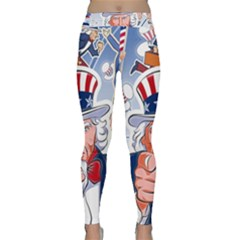 Independence Day United States Of America Classic Yoga Leggings