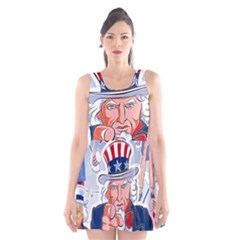 Independence Day United States Of America Scoop Neck Skater Dress