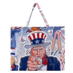 Independence Day United States Of America Zipper Large Tote Bag