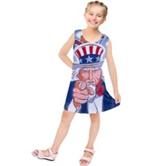Independence Day United States Of America Kids  Tunic Dress