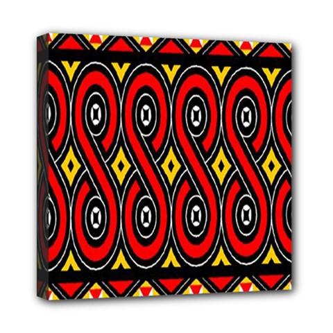 Toraja Traditional Art Pattern Mini Canvas 8  x 8