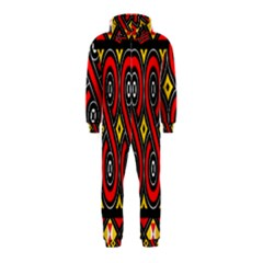 Toraja Traditional Art Pattern Hooded Jumpsuit (Kids)