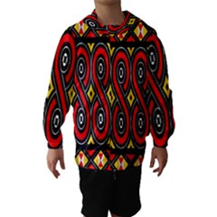 Toraja Traditional Art Pattern Hooded Wind Breaker (Kids)