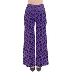 Triangle Knot Purple And Black Fabric Pants