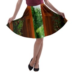 Beautiful World Entry Door Fantasy A-line Skater Skirt