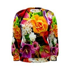 Colorful Flowers Women s Sweatshirt