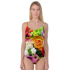 Colorful Flowers Camisole Leotard
