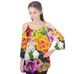 Colorful Flowers Flutter Tees