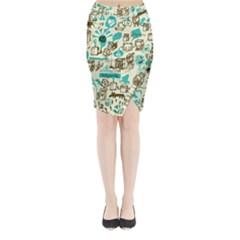 Telegramme Midi Wrap Pencil Skirt