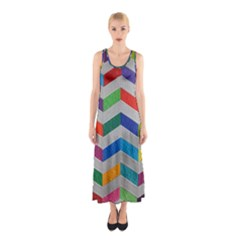 Charming Chevrons Quilt Sleeveless Maxi Dress