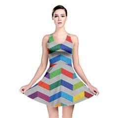 Charming Chevrons Quilt Reversible Skater Dress