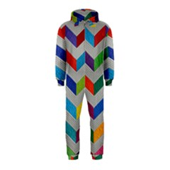 Charming Chevrons Quilt Hooded Jumpsuit (Kids)