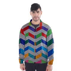 Charming Chevrons Quilt Wind Breaker (Men)