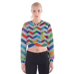 Charming Chevrons Quilt Cropped Sweatshirt