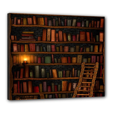 Books Library Canvas 24  x 20
