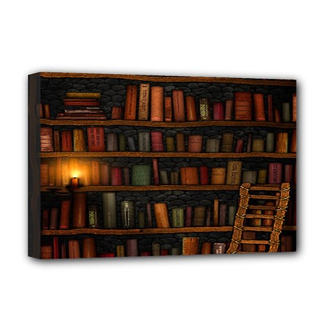 Books Library Deluxe Canvas 18  x 12