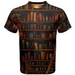 Books Library Men s Cotton Tee