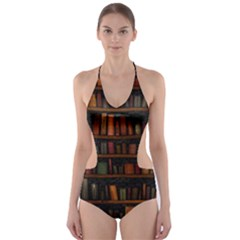 Books Library Cut-Out One Piece Swimsuit