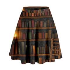 Books Library High Waist Skirt