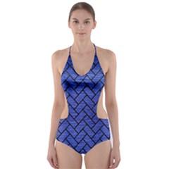 BRK2 BK-MRBL BL-BRSH (R) Cut-Out One Piece Swimsuit