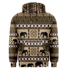 Elephant African Vector Pattern Men s Pullover Hoodie