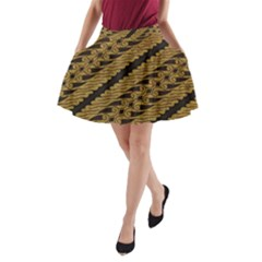 Traditional Art Indonesian Batik A-Line Pocket Skirt