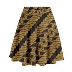 Traditional Art Indonesian Batik High Waist Skirt