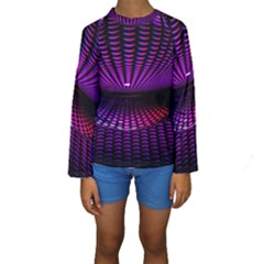 Glass Ball Texture Abstract Kids  Long Sleeve Swimwear