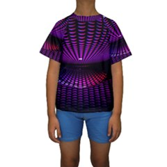 Glass Ball Texture Abstract Kids  Short Sleeve Swimwear