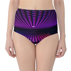 Glass Ball Texture Abstract High-Waist Bikini Bottoms