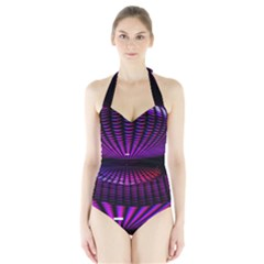 Glass Ball Texture Abstract Halter Swimsuit