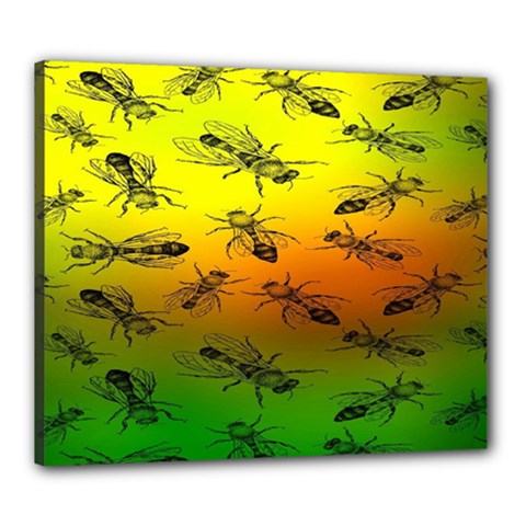 Insect Pattern Canvas 24  x 20