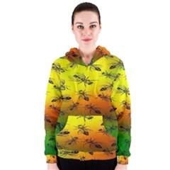 Insect Pattern Women s Zipper Hoodie