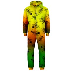 Insect Pattern Hooded Jumpsuit (Men)