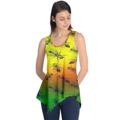 Insect Pattern Sleeveless Tunic