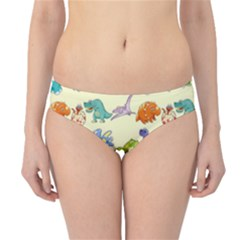 Group Of Funny Dinosaurs Graphic Hipster Bikini Bottoms