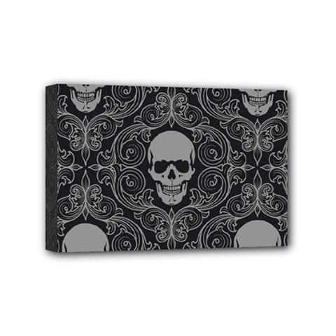 Dark Horror Skulls Pattern Mini Canvas 6  x 4