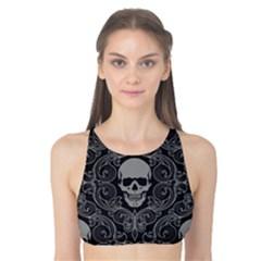 Dark Horror Skulls Pattern Tank Bikini Top