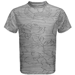 Embossed Rose Pattern Men s Cotton Tee