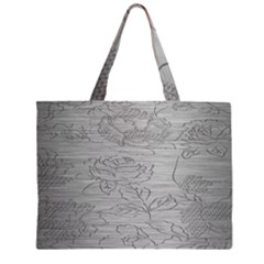 Embossed Rose Pattern Large Tote Bag