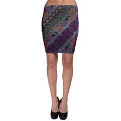 Batik Art Pattern  Bodycon Skirt