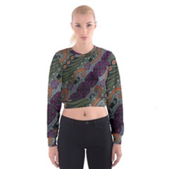 Batik Art Pattern  Cropped Sweatshirt