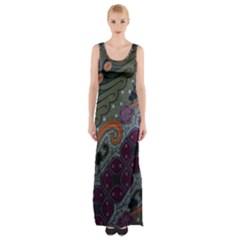 Batik Art Pattern  Maxi Thigh Split Dress