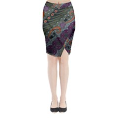 Batik Art Pattern  Midi Wrap Pencil Skirt
