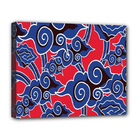 Batik Background Vector Deluxe Canvas 20  x 16